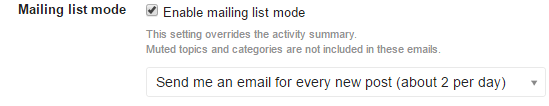 mailinglistmode