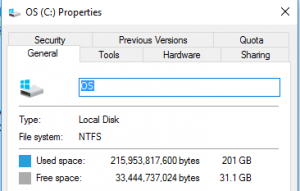 How do I know if my drive is NTFS?