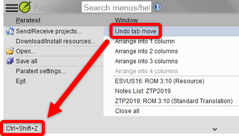 Find a keyboard shortcut by hovering over a menu item.