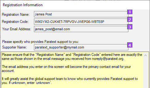 paratext registration code