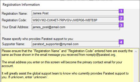 paratext registration code