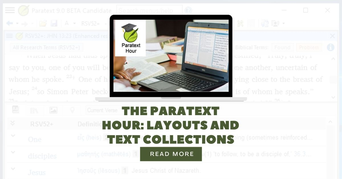 The Paratext Hour Layouts and Text Collections
