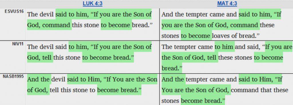 parallel passages english comparison